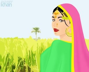 My Farm: Kalini as a Punjabi Girl by ArsalanKhanArtist