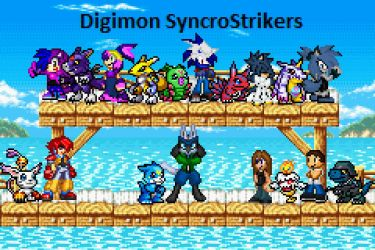 digmon SyncroStrikers comic cover for our guild by BluethornWolf