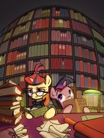 Amending Fences - Horses with books by Stupchek