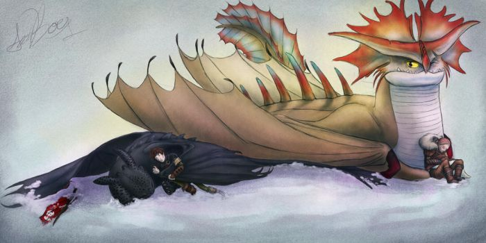 Napping With Mother ~ HTTYD by EndoFire