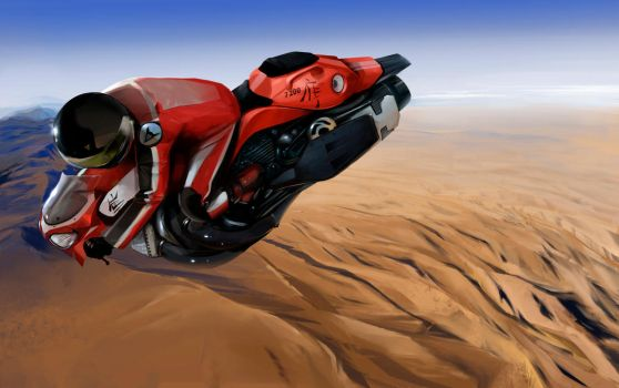 Hover Bike over Arizona, USA by xparament