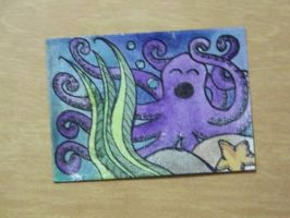 Sleepy Octopus ATC by mintdawn