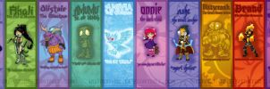 League of Legends bookmark set 1 by Hotaru-oz