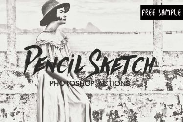 Free Pencil Sketch Photoshop Actions by symufa