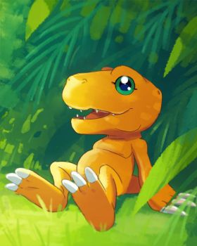 Agumon by manee-sketch