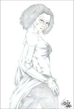 CAPTAIN MARVEL (MONICA RAMBEAU) PENCIL by ARTofTROY