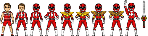 Jason the Red Ranger by MegaZeo