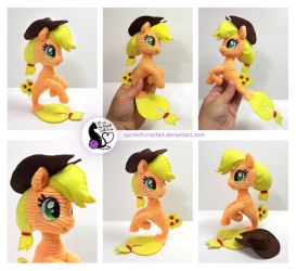 Applejack seapony - crochet plush toy (FOR SALE) by SyCreich-crochet