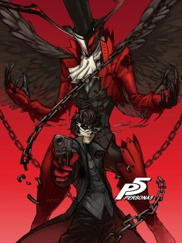 Persona 5 Protagonist by PATVIT