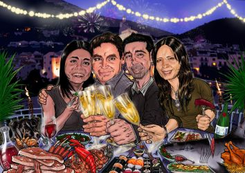 CARICATURE COMMISSION 2014 by barfast