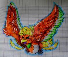 Fanart||Ho-Oh by Volcagnion