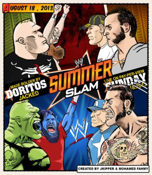 summerslam 2013 Poster Created by jkipper - MFSTER by THE-MFSTER-DESIGNS