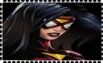 Spider-Woman Jessica Drew Fan Stamp by WOLFBLADE111