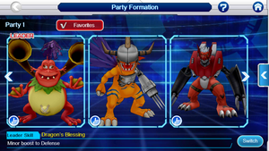 My Team So Far On Digimon Linkz by BluethornWolf