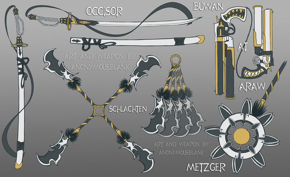 NCTS Weapon Sheet by AnonymousBlank