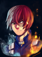 Todoroki by TheSketchyDot