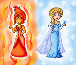 fire and ice by ninpeachlover