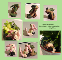 Seasonal Leafeon Commissions by Bittythings