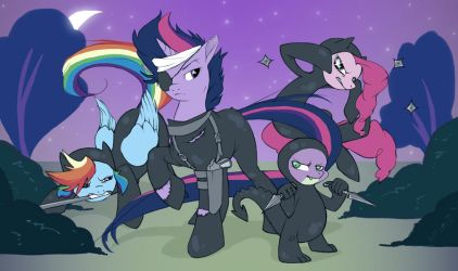 MLP - Ninjas by dfpdigital