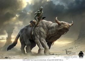John Carter - Thoat Concept Art by michaelkutsche