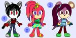Sonic female adoptables #2 OPEN! (lowered prices!) by TothViki