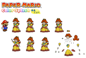 Daisy (Paper Mario Color Splash Recut) by DerekminyA