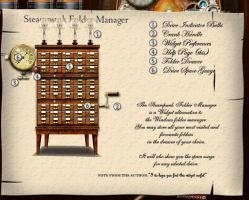 Steampunk Folder Manager by yereverluvinuncleber