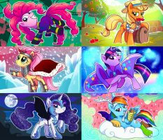Mane6 disguised as vilains by Adlynh