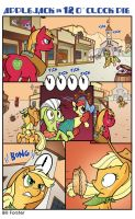 Applejack in 12 O'Clock Pie by BillForster