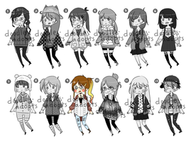 CHEAPER Adopts Batch - 4 [OPEN] - PAYPAL ONLY by doodles-adopts