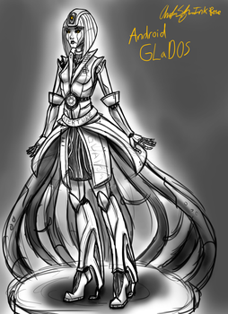 Rough Sketch GLaDOS Android Design by InkRose98