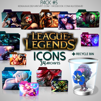 34 Icons - League of Legends by AliceeMad