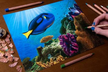 Drawing Dory in real life by Heatherrooney