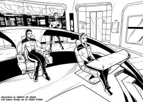 A day on the bridge of the USS Galaxy by Rusty0918