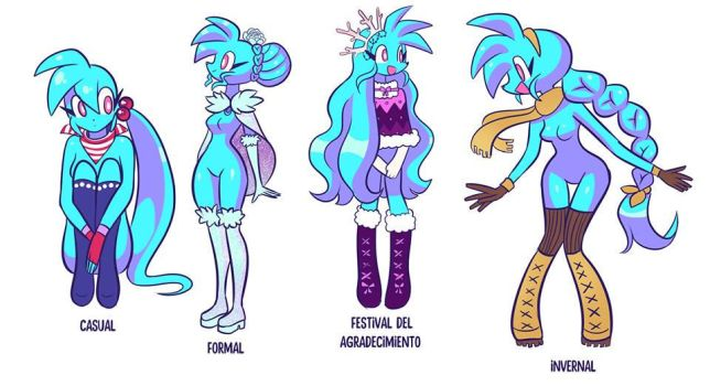 Spaicy with different looks by LoulouVZ