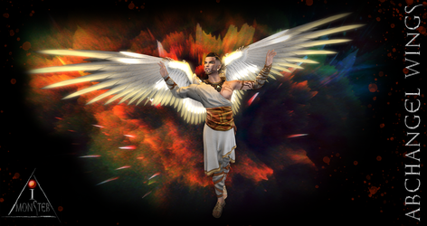 Archangel wings poster by TithisString