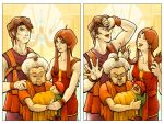 Golden Sun : Briggs Family Portraits by hobogonemad