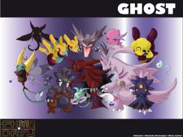 Oryu wall: Ghost type by shinyscyther