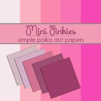 Mini Pink Polka Dot Papers by TeacherYanie