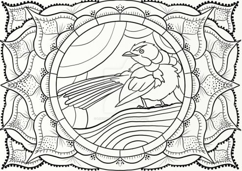 Blue Wren Coloring Page by LorraineKelly