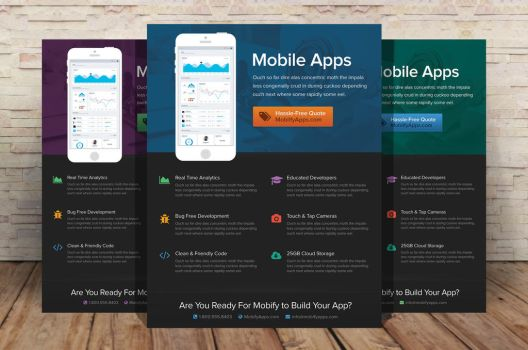 Mobile App Flyer Template by xstortionist