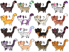 16 adoptables open by CitruShark