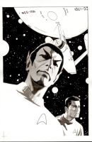 Spock Reflections issue 4 bw by BroHawk