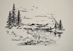 Ink Trees by TomKilbane