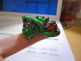 ArtCrossing 3: Tiny Green Dragon by Lucky101212