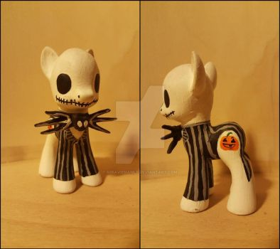 Jack Skellington Custom Pony by NiravienaMLP
