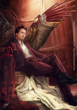 Avenging angel: Tony by Brilcrist