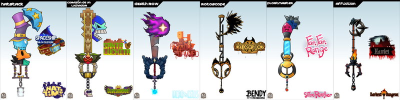 Keyblade Cards - Indie Set 2 by IronClark