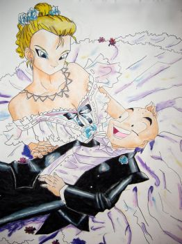Krillin and 18 by ChocolateReeses