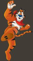 tony the tiger by cgbandit